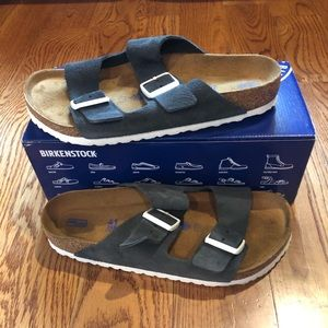 Birkenstock Arizona gunmetal suede 10 medium